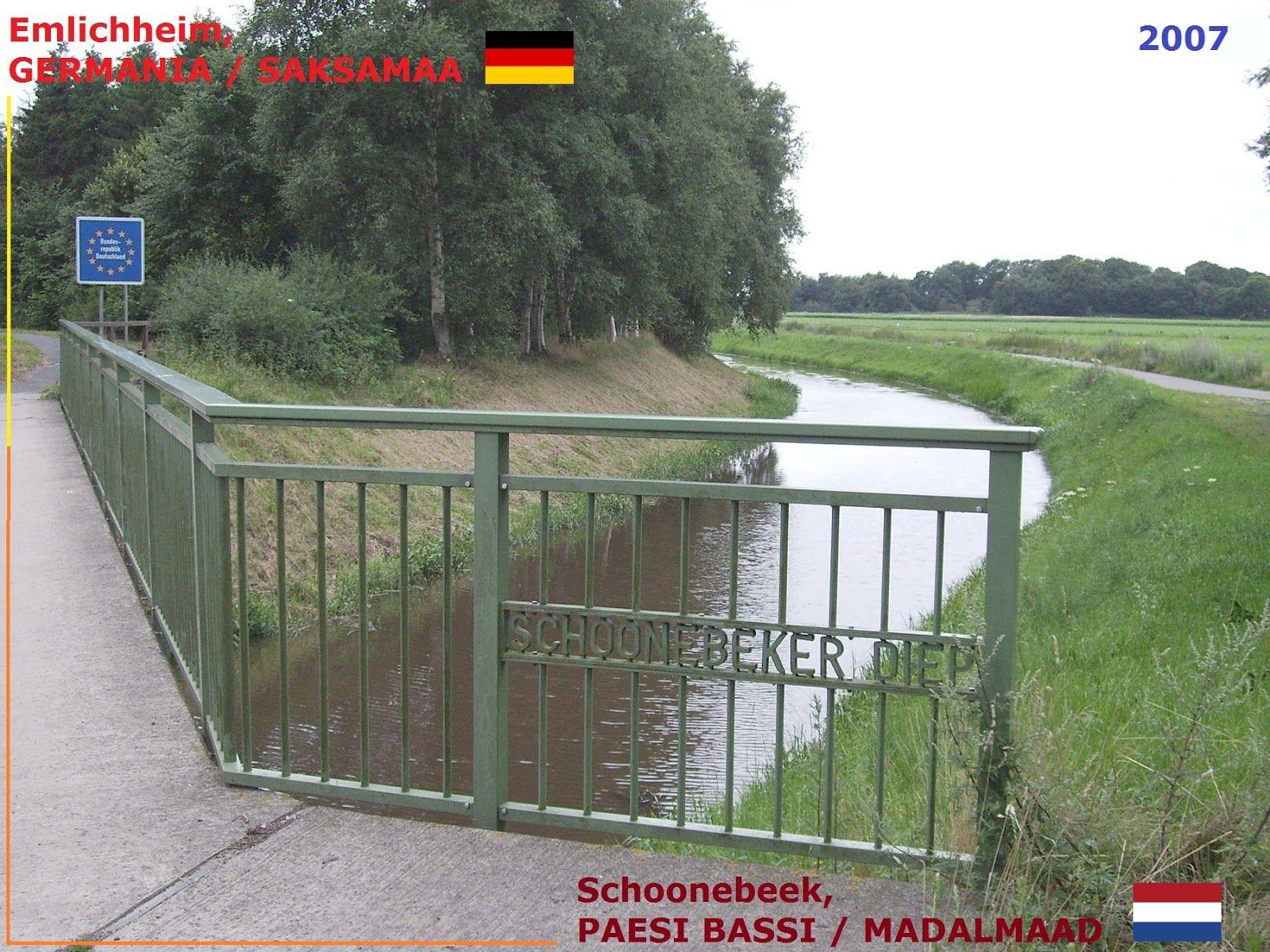 Confini amministrativi - Riigipiirid - Political borders - 国境 - 边界: 2007 DE-NL Saksamaa-Madalmaad Germania-Paesi Bassi...