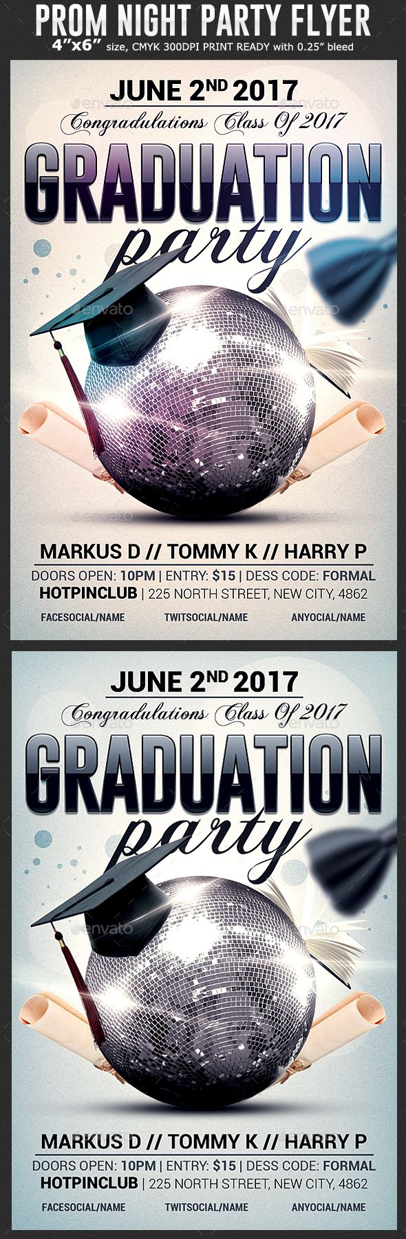 Graduation Party Flyer Template | Party flyer, Flyer template and ...