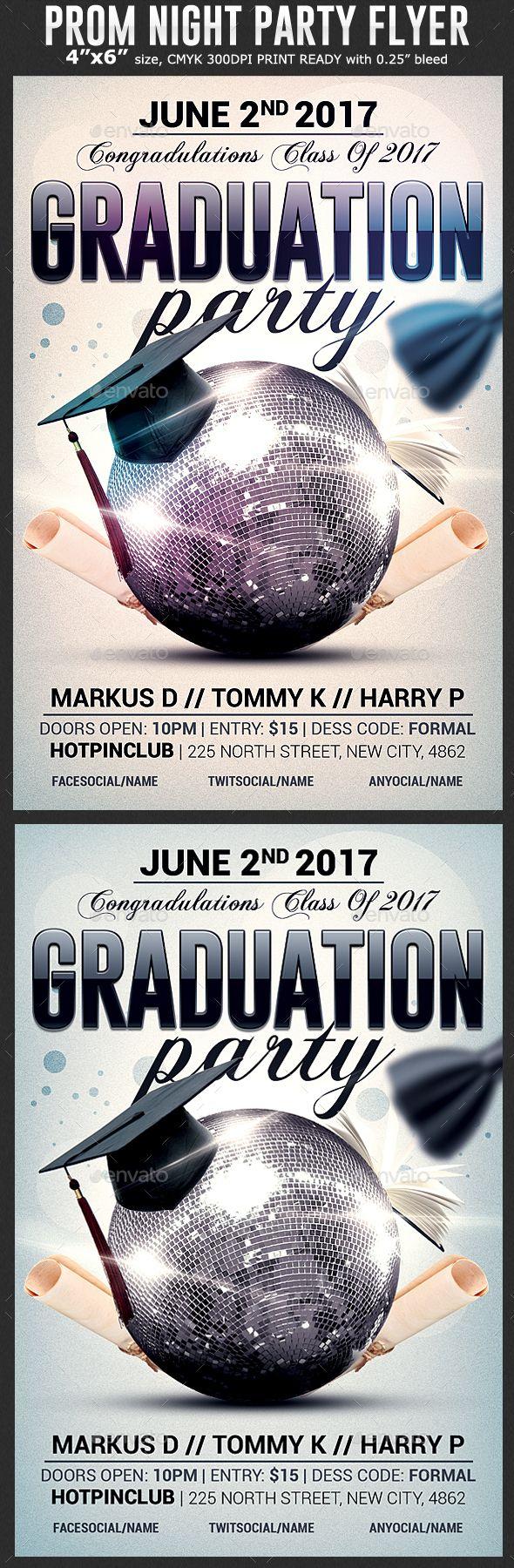 Marvelous Graduation Party Flyer Template