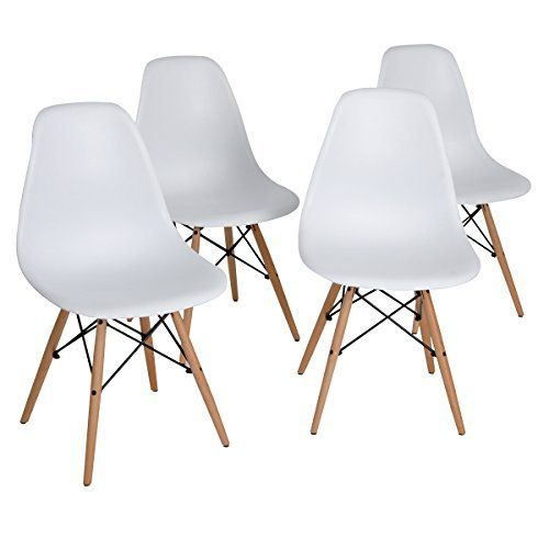 poly and bark eames style molded plastic dowel leg side chair dsw