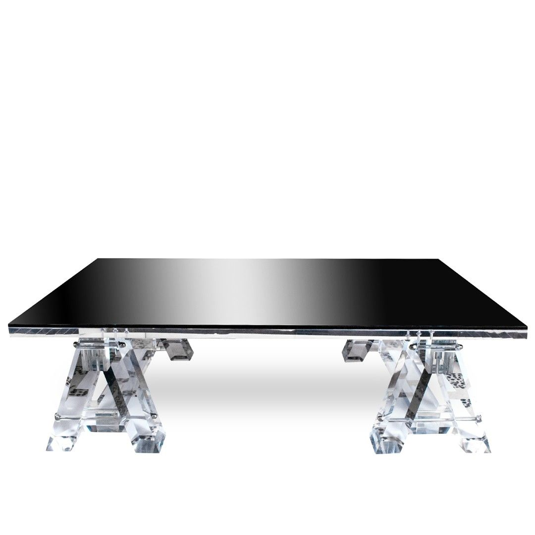 Timothy Oulton Acrylic U0026 Glass Coffee Table At DecorNYC