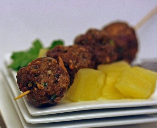 Teriyaki Meatballs with Pineapple @Megan Pires