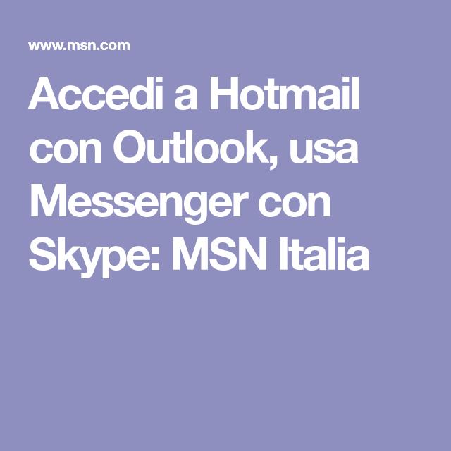 messenger hotmail accedi