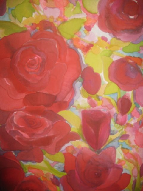 Ellen Gladis hand painted silks at the Pelican Courtyard Open Air Market