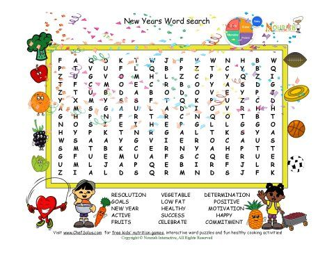 Holiday 1 New Year Word search New Years Printables Pinterest