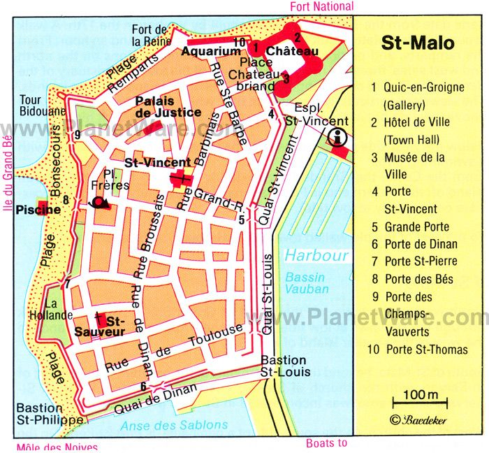 st malo map tourist attractions