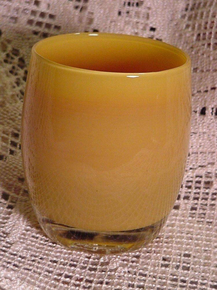 Glassybaby Votive Candle Holder sort of Caramel Color