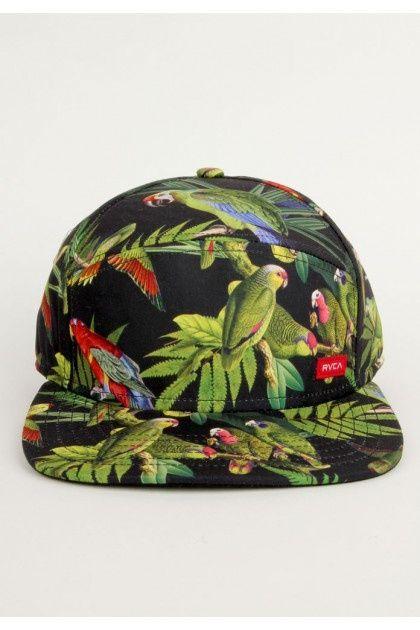 RVCA Clothing Shovelnose Snapback Hat - Black Green  32.00    http   allthisnoise ba80ffd0112e