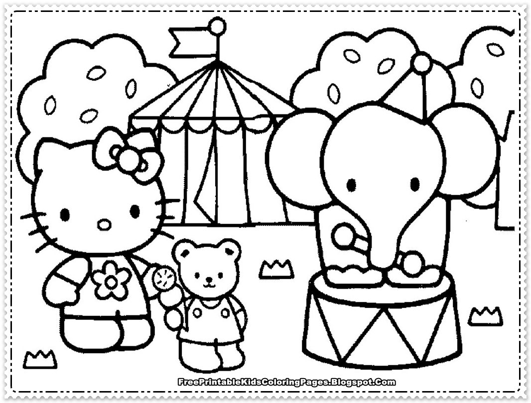 Hello kitty coloring book pages to print - Free Printable Baby Hello Kitty Coloring Pages For Kids Picture 13 Picture