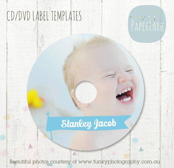 Baby Photo CdDvd Label Photoshop Template Es Instant By