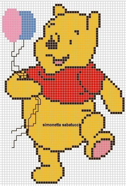 schemi winnie the pooh idee a punto croce charts