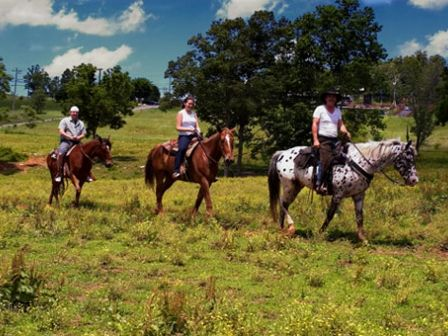 Saddle up for a trail ride at Jesse James Riding Stables