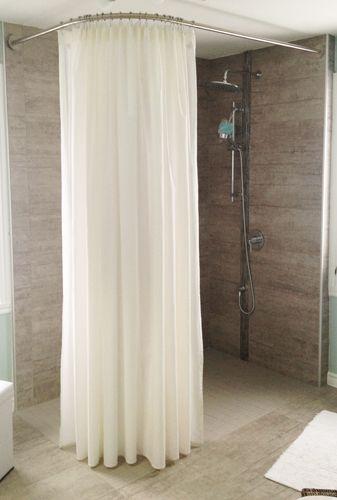 Douche italienne XXL - Barre de rideau de douche d\'angle sur-mesure ...
