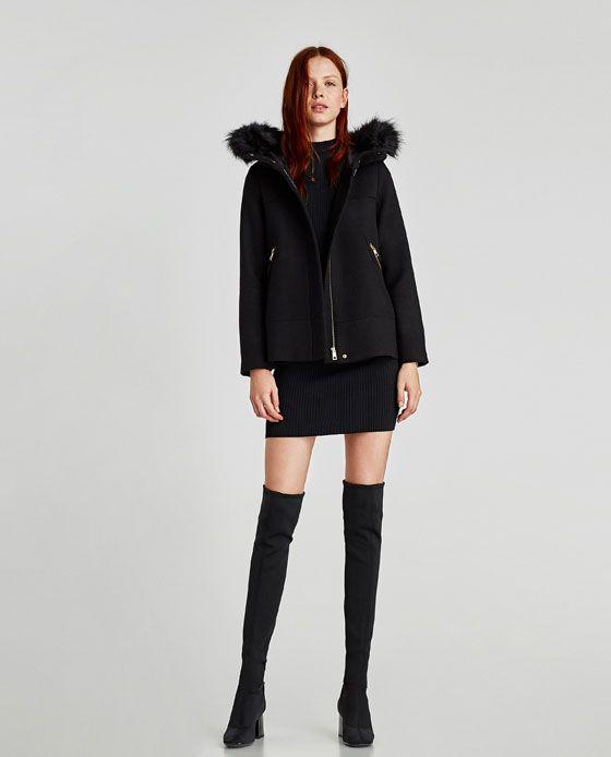 Capuche À Court De Zara Image Want 1 Manteau Texturée FqwzWTH