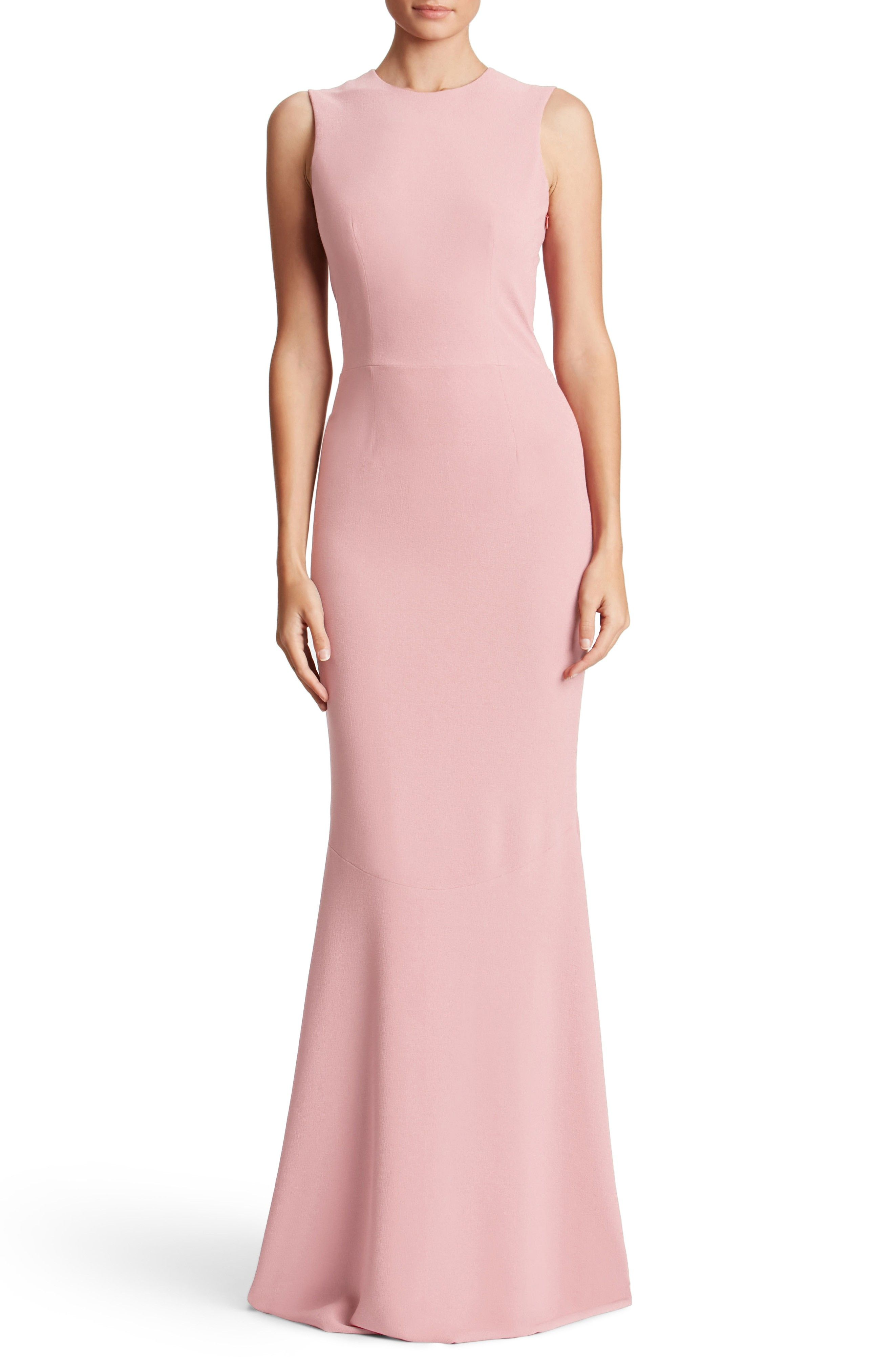 New Dress the Population Eve Crepe Mermaid Gown, Black fashion dress ...