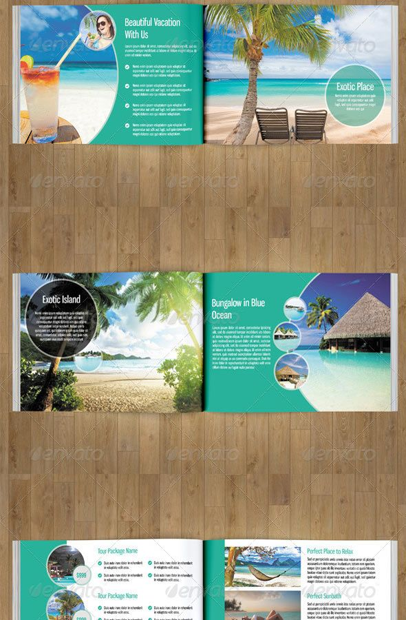 Travel Brochure Template Design  Editorial Design
