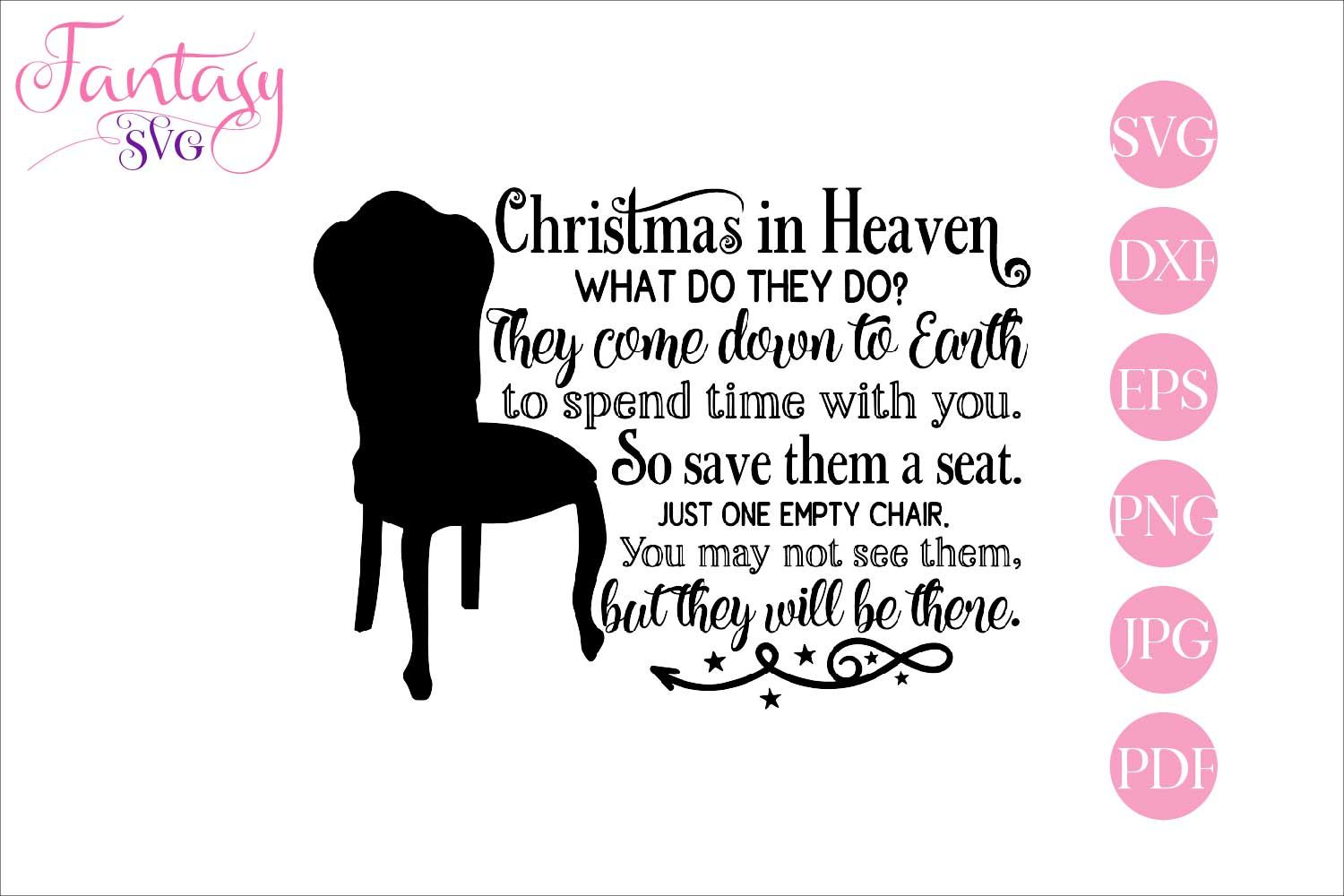 Download Christmas in Heaven (Graphic) by Fantasy SVG