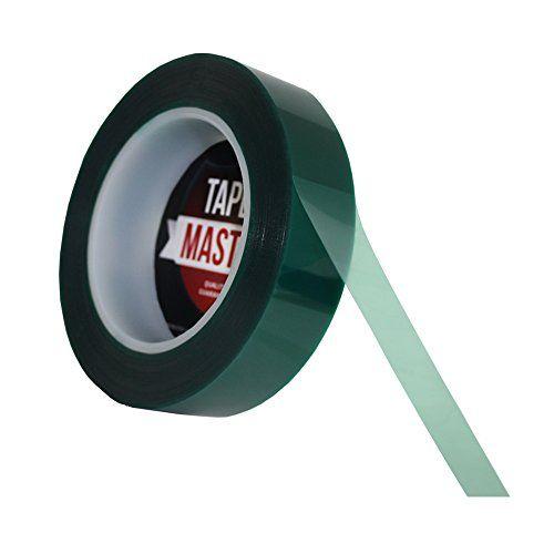 1 X 72 Yds Tapes Master 2 Mil Green Powder Coating Masking Tape High Temperature Masking Tape Green Powder Powder Coating