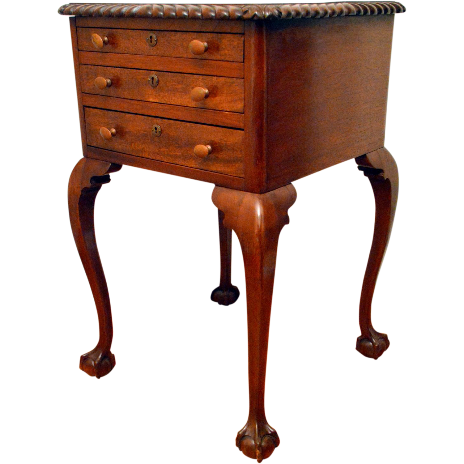 Exceptional Antique Philadelphia Chippendale Style Side Table