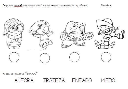 Ficha Identificacion Emociones 3 Anos Preschool Character Fictional Characters