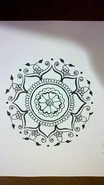 Crimson Art Henna - Elizebeth Tong, Artist. Pen on paper - tattoo design request