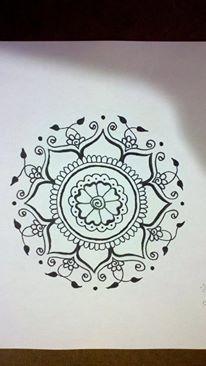 Crimson Art Henna Elizebeth Tong Artist Pen On Paper Tattoo