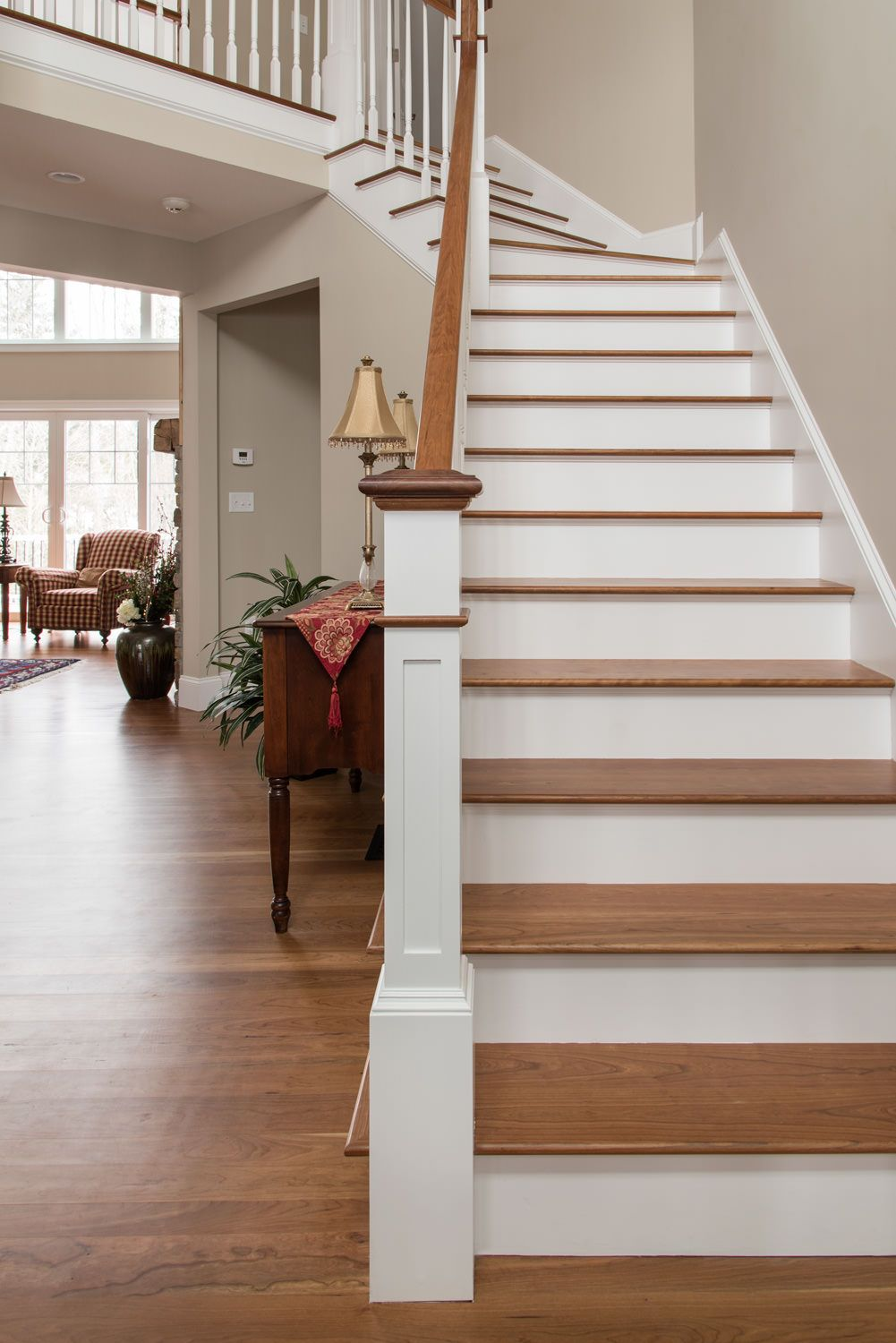 Best Cherry Stairs And Matching Flooring Mill Direct 400 x 300