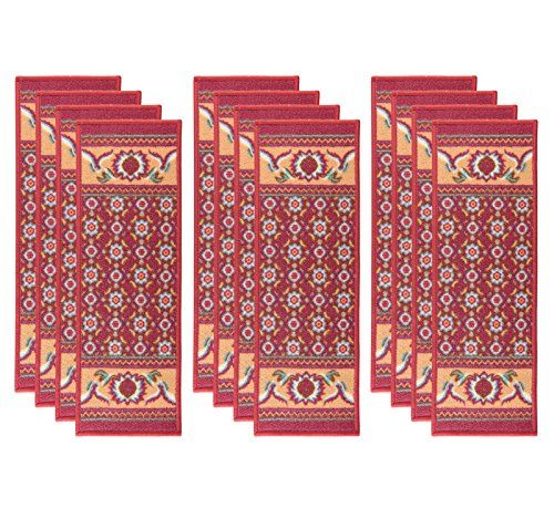 MBIGM Set Of 12 Non Slip Stair Treads Carpet Blended Jacquard Indoor Skid  Resistant Stair Tread