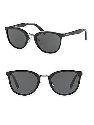 0d71333b20148 Prada Phantos 52MM Cat s Eye Sunglasses - Black