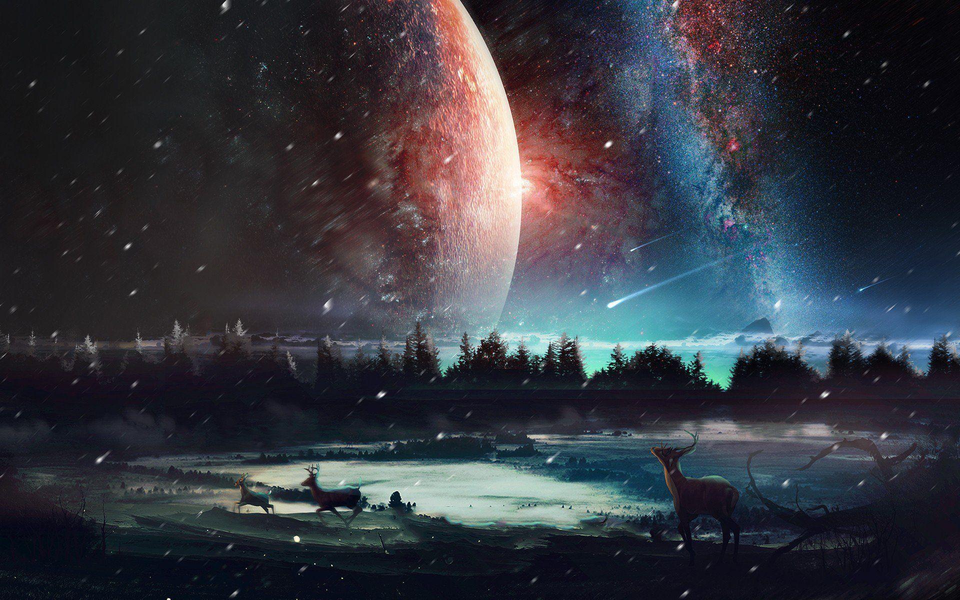 Universe Scenery Hd Wallpaper 4k Https Livewallpaperswide Com Space Universe Scenery Hd Wallpaper 4k 9041 4k 5k 8k Planets Wallpaper Scenery Space Artwork