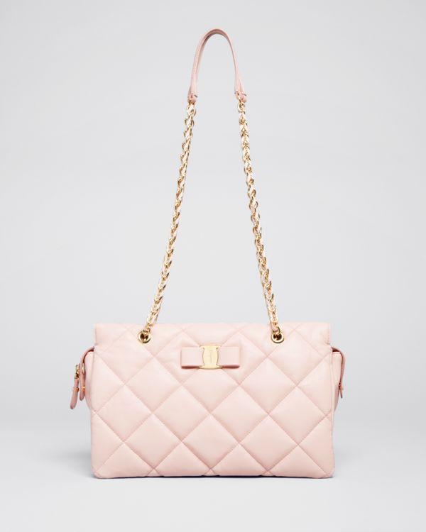 e7d42c245b Salvatore Ferragamo Shoulder Bag - Medium Ginette Quilted