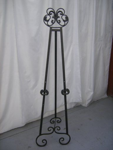 Easel Wrought Iron 1 7m 796 45 00 Party Hire Weddings Jukeboxes Marquees Party Supplies Decorations Christchurch Molbert