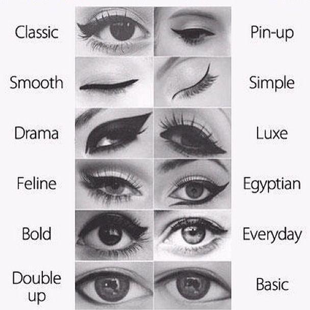different liquid eyeliner styles beauty pinterest