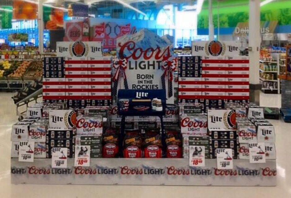 Summer Beer Display By Justin H E Weaver Beer Display Summer Beer Coors Light