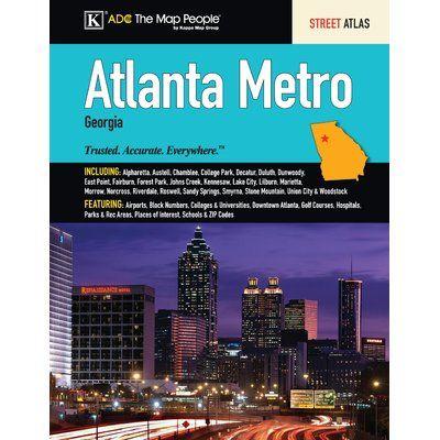 Universal Map Atlanta Metro Atlas National Geographic Maps Wall Maps Atlanta