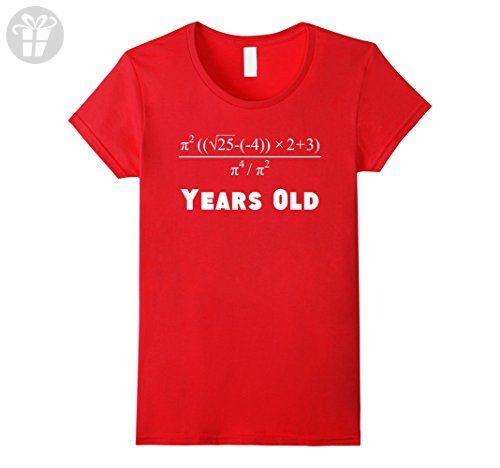 Womens 21 Years Old Algebra Equation Funny 21st Birthday Math Shirt Small Red