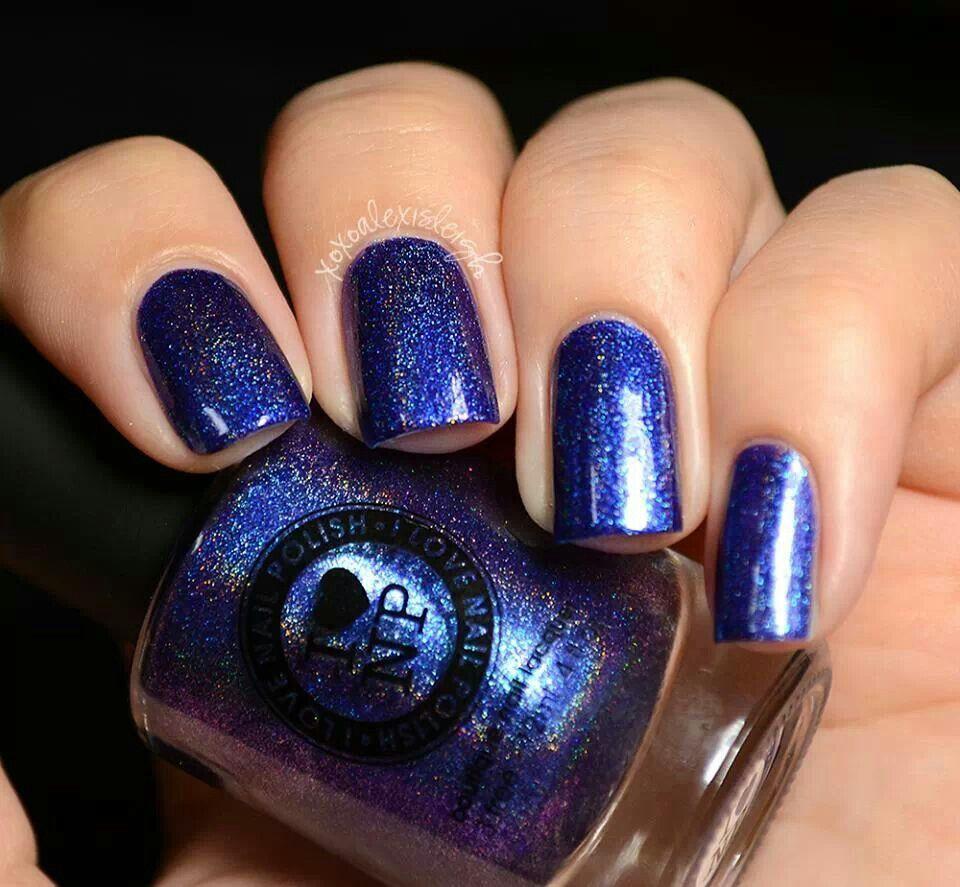 Blue sparkle Nail polish, Boutique nails, Nails