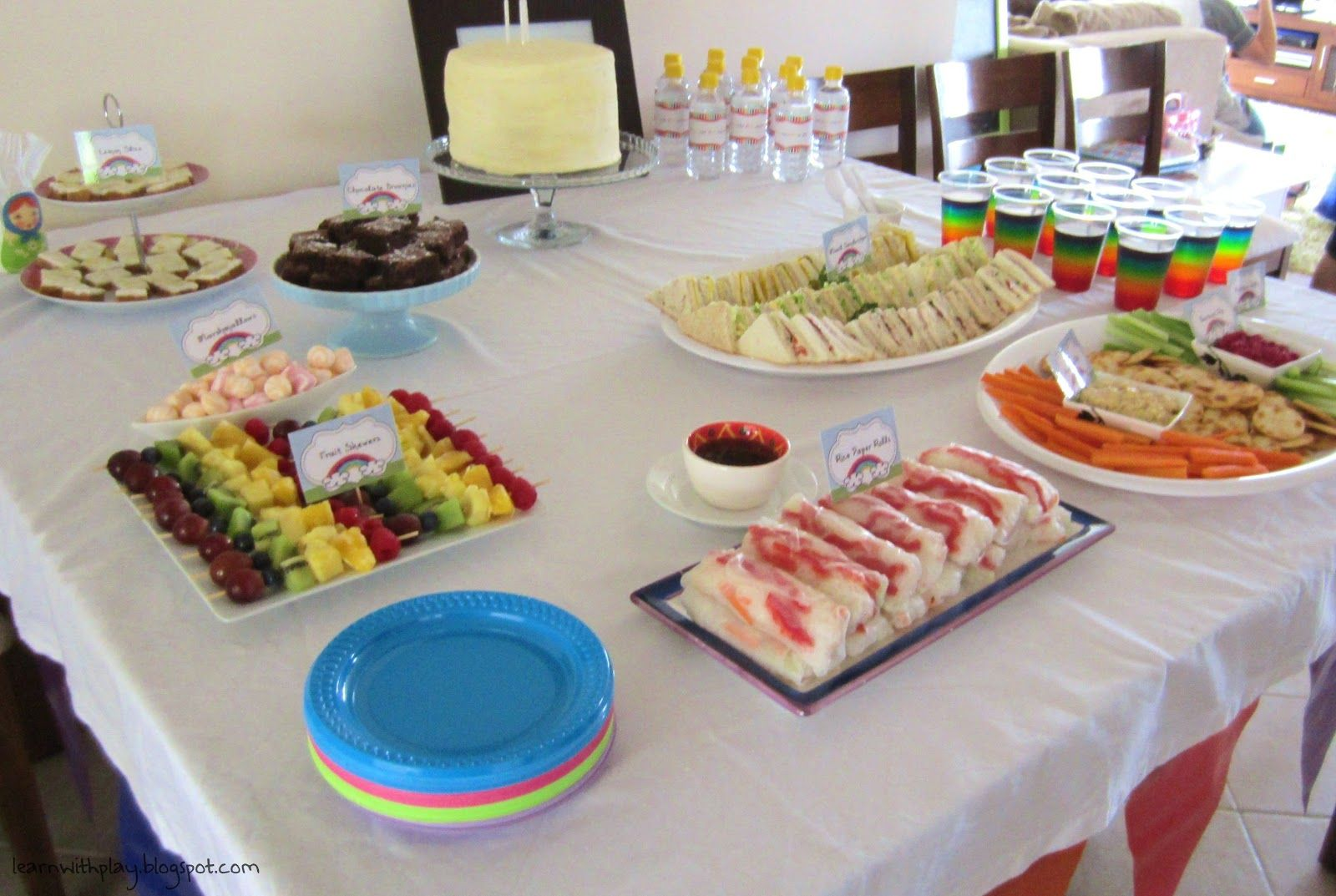 birthday party menu Adult