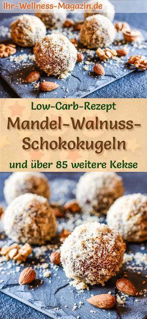 Low Carb Mandel-Walnuss-Schokokugeln - einfaches Plätzchen-Rezept für Weihnachtskekse