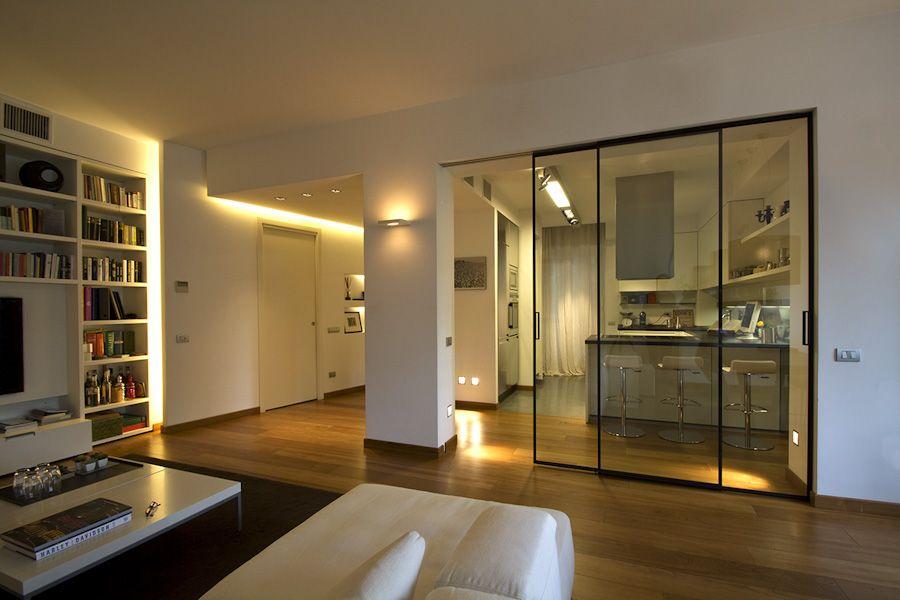Porte scorrevoli 20 south d co maison d coration maison porte cuisine - Open space cucina salotto ...