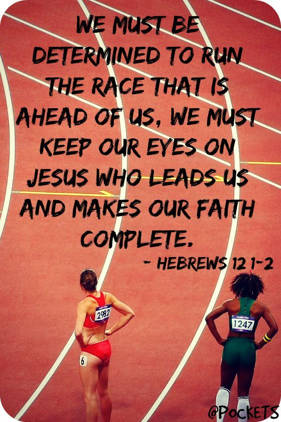 Hebrews 12:1-2 | Quotes | Track workout, Kids church, Bible
