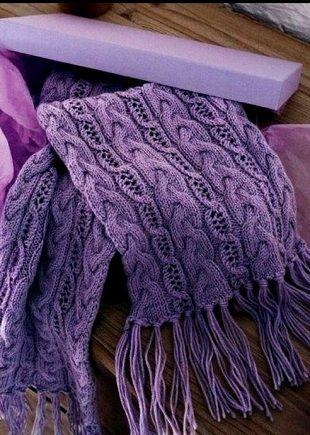Схема для шарфа спицами | Вязание Шали Шарфы | Pinterest | Stricken ...