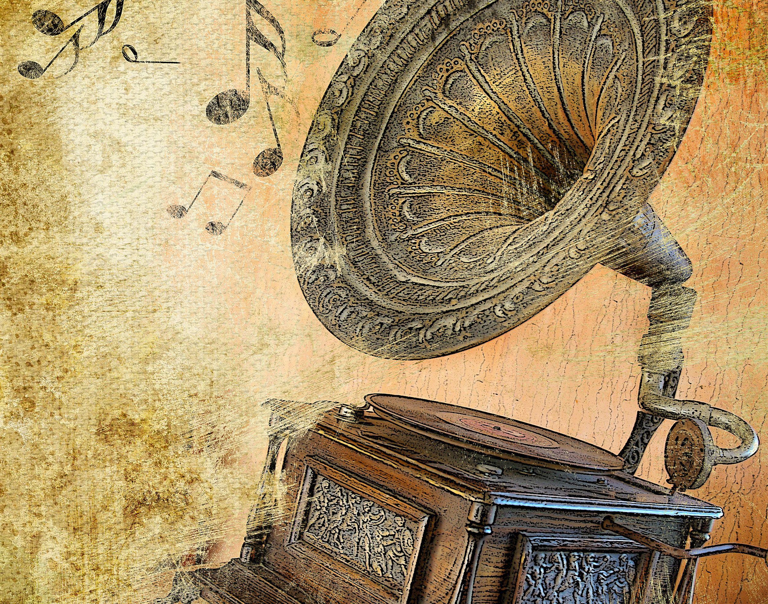 gramófono vintage wallpaper - ForWallpaper.com
