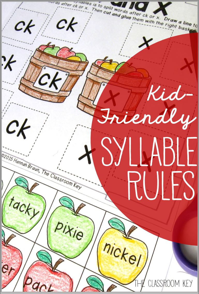 Syllable Rules Activities And Worksheets Terrific Third Grade