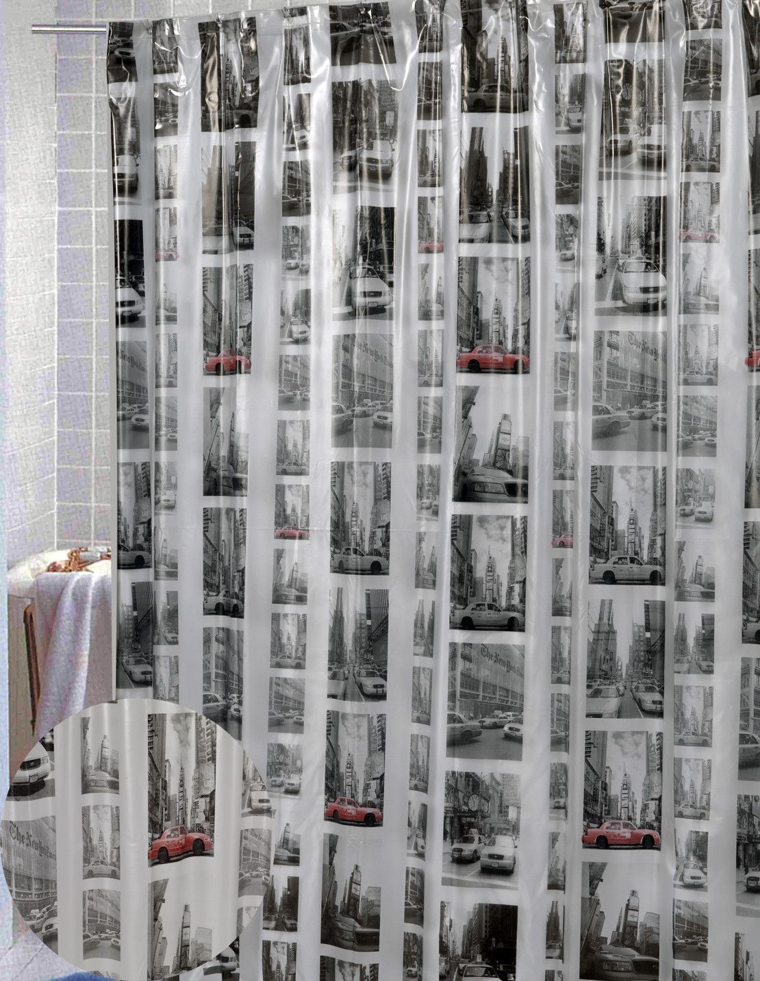 Vinyl New York Shower Curtain