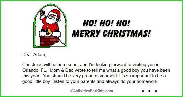 Free Printable Letter From Santa For Kids  Santa Birthday Party
