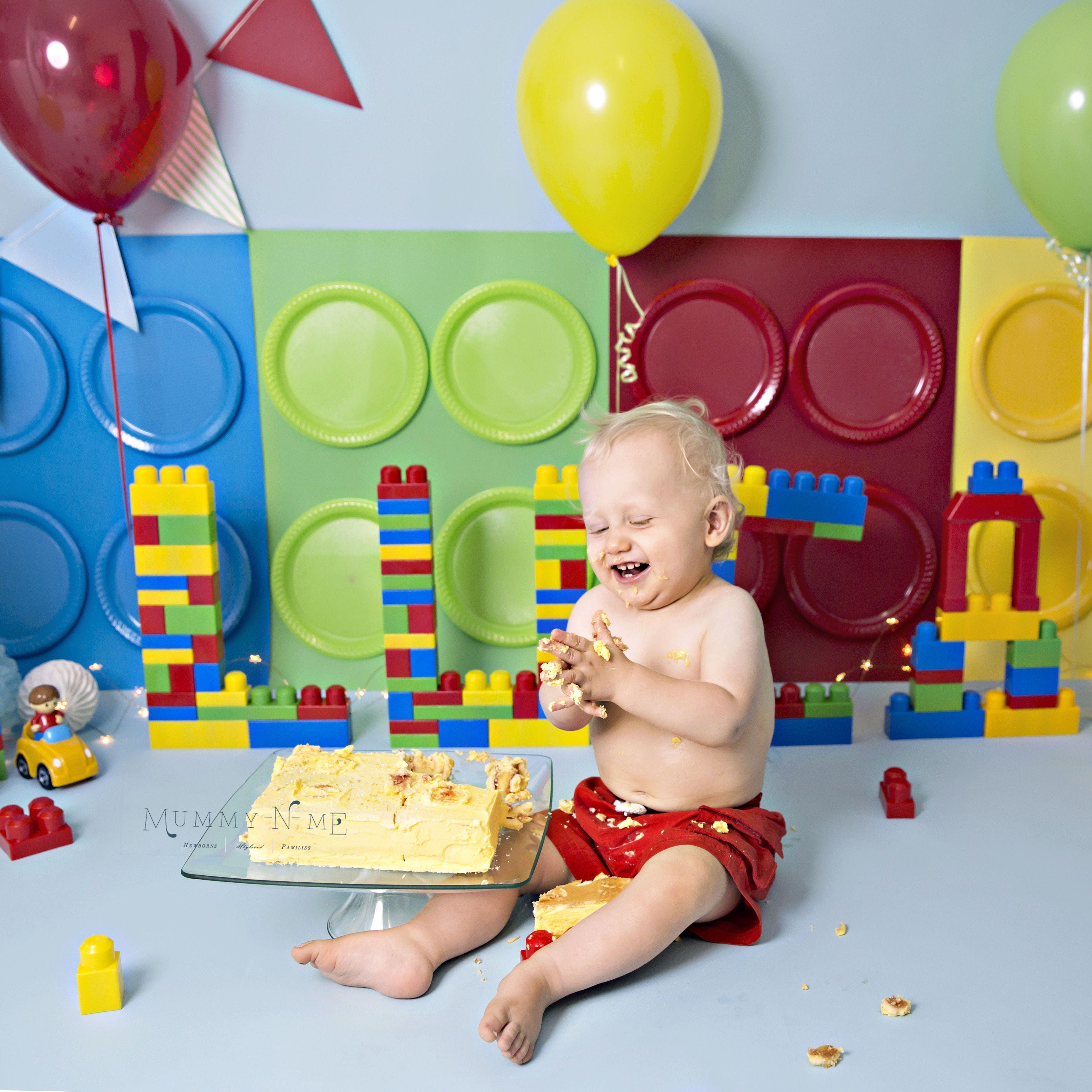 Celebrating this little mans lego cake smash lego cake
