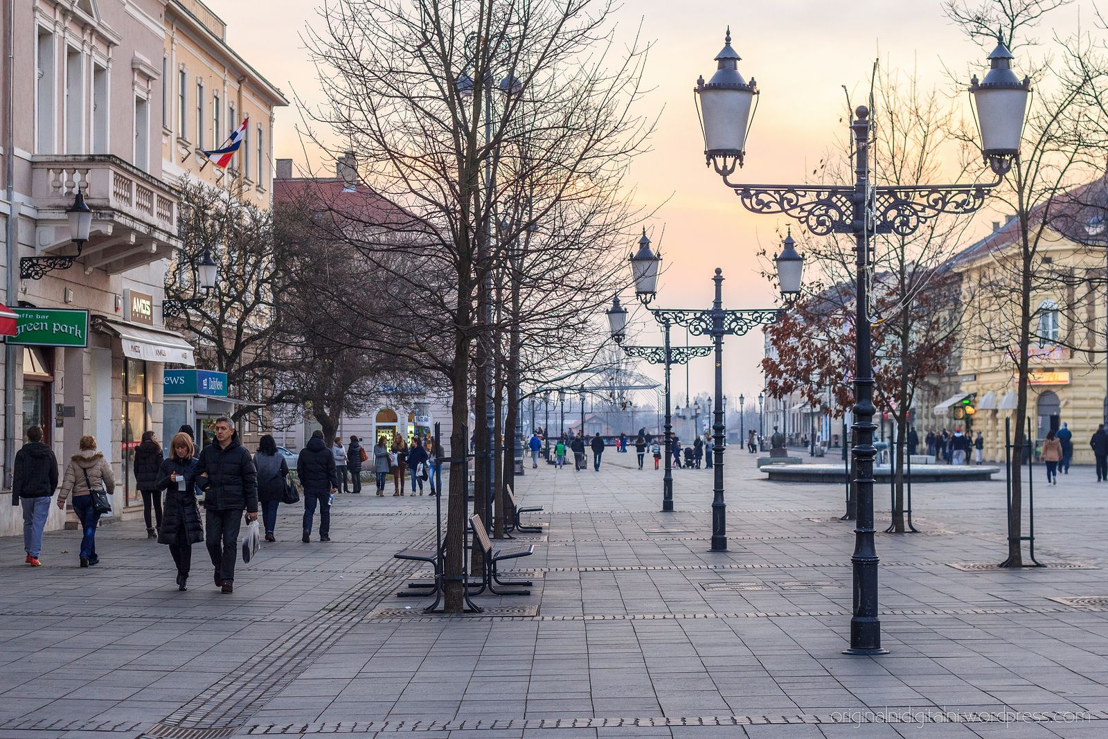 Main City Square Slavonski Brod Slavonski Brod Croatia Travel Croatia
