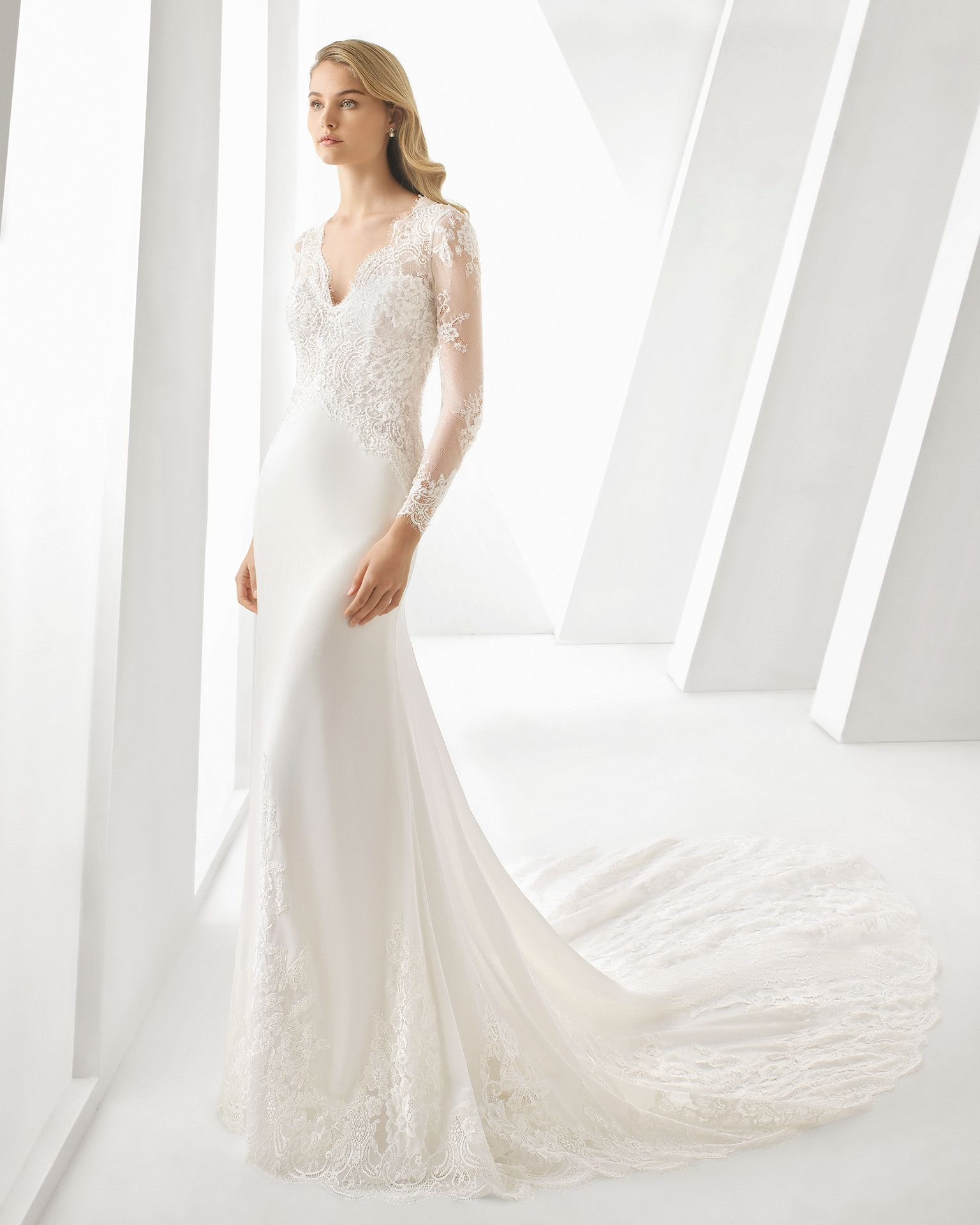 Daby Wedding Dress Long Sleeve Rosa Clara Wedding Dresses Wedding Dresses [ 1920 x 1536 Pixel ]