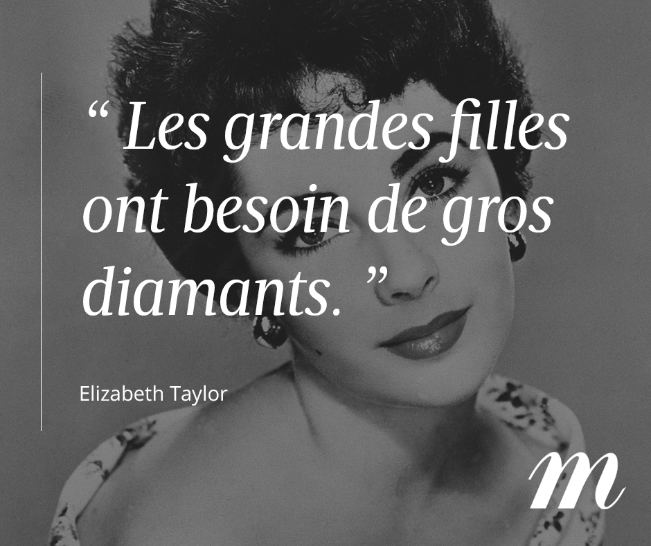 Quantité limitée magasiner pour le meilleur promotion spéciale Citation Elizabeth Taylor, actrice, bijoux, diamant ...